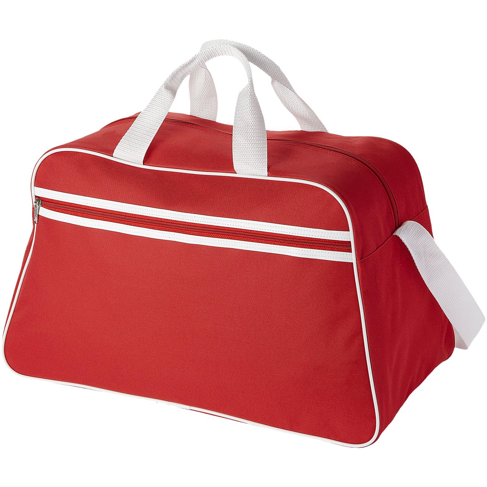 Sportovní taška San Jose - Červená s efektem námrazy / Bílá