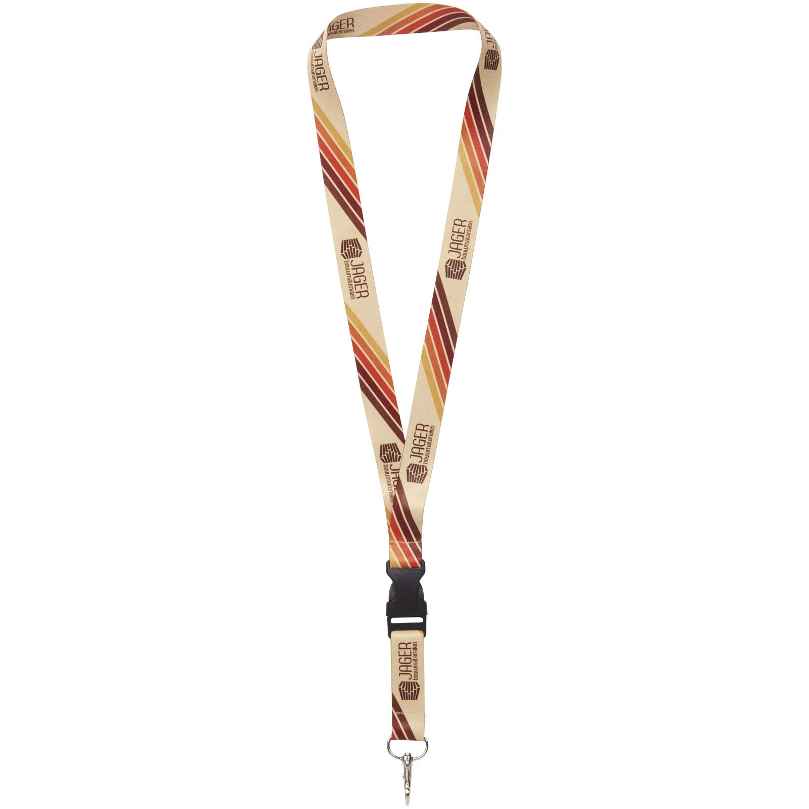 Bucks plnobarevný lanyard - oboustranný - Bílá / 10mm