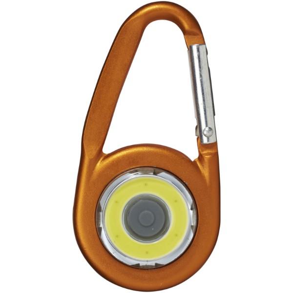 COB svítilna Eye s karabinou - 0ranžová
