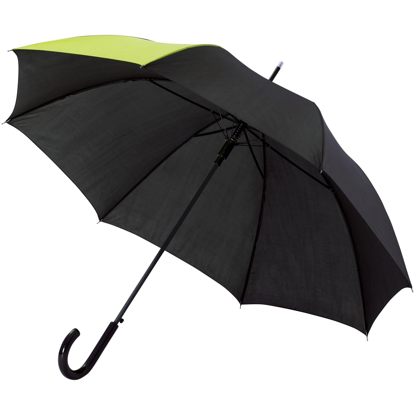 """23"""" deštník Lucy s automatickým otvíráním - Neonově zelená / Černá"""