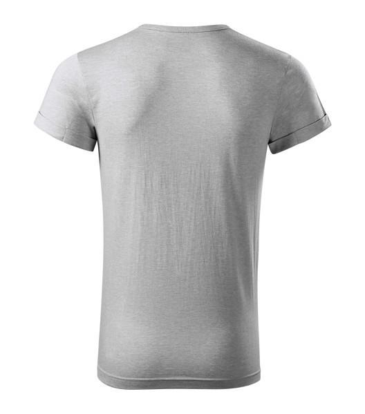 Tričko pánské Malfini Fusion - Stříbrný Melír / 3XL