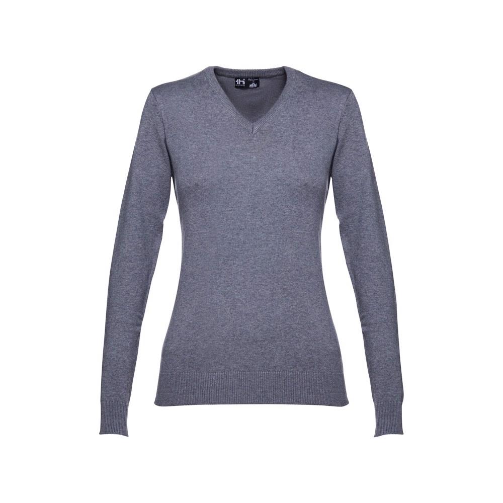 MILAN WOMEN. Γυναικείο πουλόβερ - λαιμόκοψη - Heather Γκρι / L