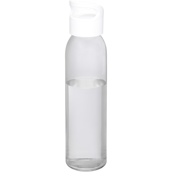 Sky 500 ml glass sport bottle - White