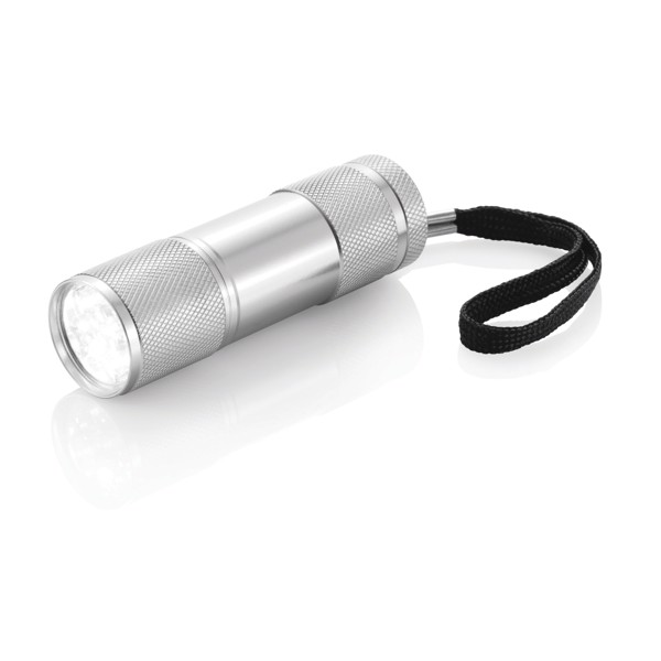 Hliníková svítilna Quattro - Stříbrná