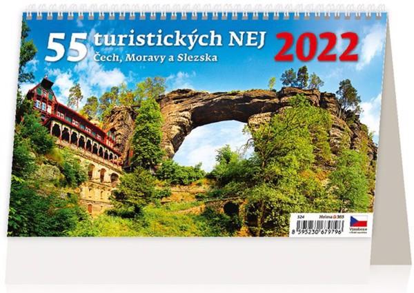 Týdenní kalendář 55 turistických nej Čech, Moravy a Slezska 2022