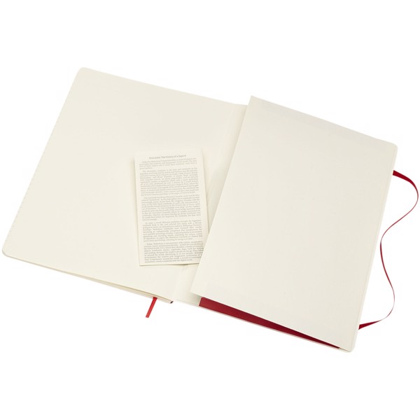 Classic XL soft cover notebook - ruled - Scarlet red