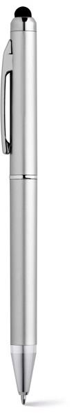 ESLA. Ball pen with metal clip - Satin Silver