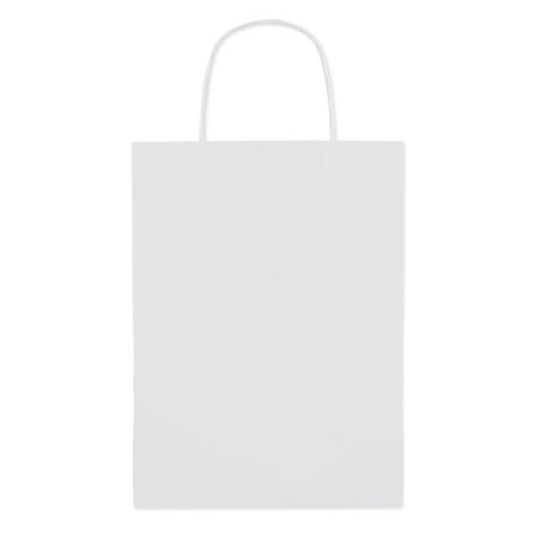 Paprierowa torebka ozdobna śre Paper Medium - biały
