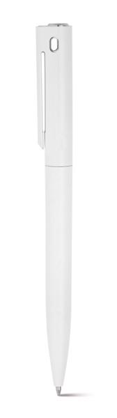 GAUSS. Ball pen with clip - White