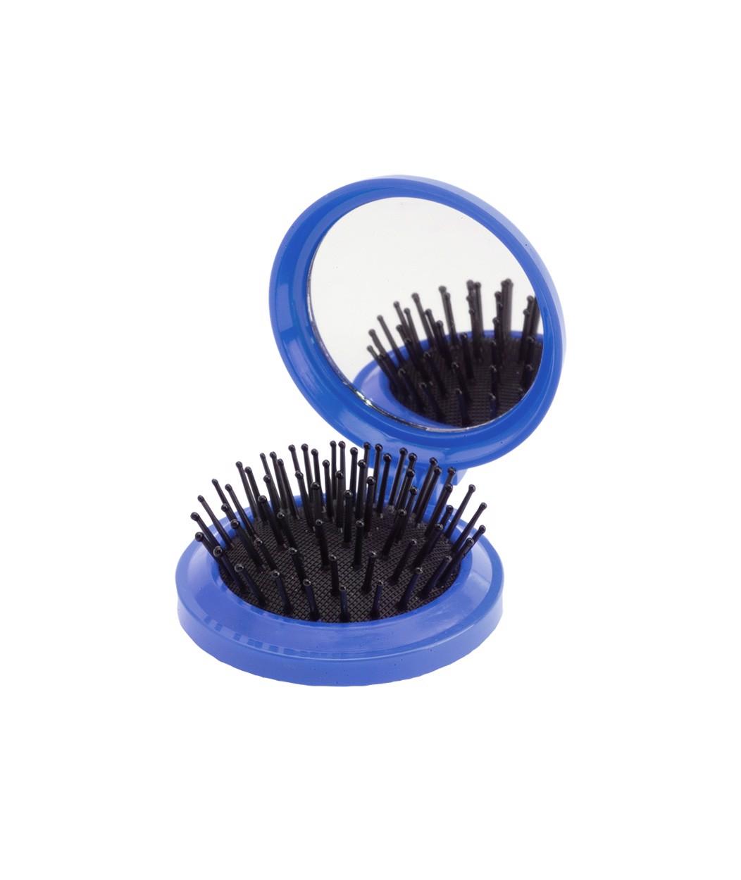 Perie De Păr Cu Oglindă Glance - Albastru