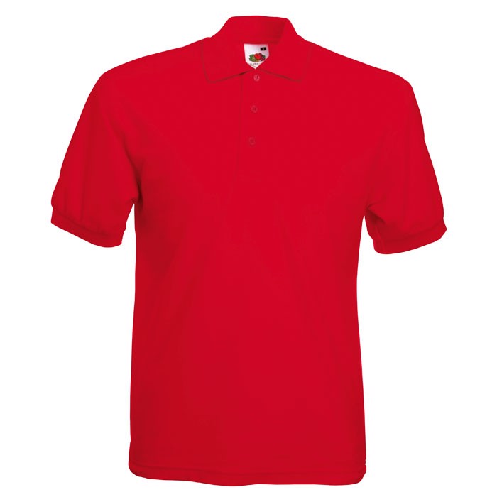 Polokošile piqué 65/35 Blended Polo 63-402-0 - Red / XL