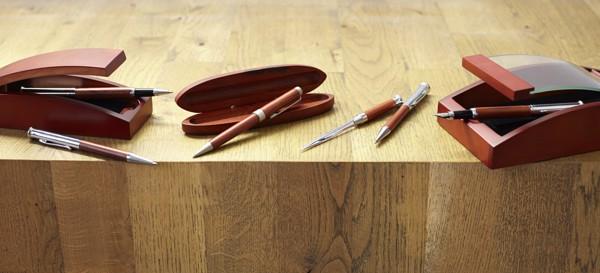 Wooden writing set