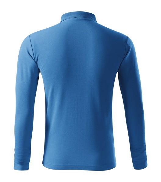 Polo Shirt men's Malfini Pique Polo LS - Azure Blue / M