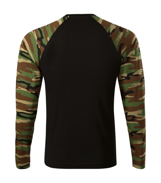 T-shirt unisex Malfini Camouflage LS - Camouflage Brown / 2XL