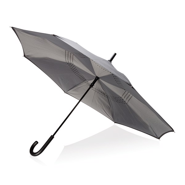 "Umgekehrter manueller 23"" Regenschirm"