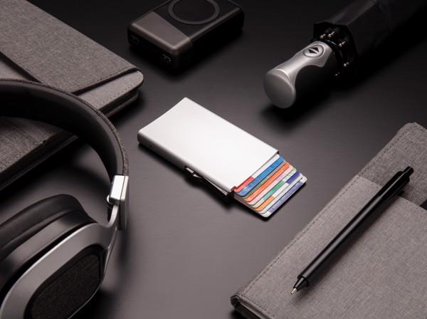 Hliníkové RFID pouzdro na karty - Stříbrná
