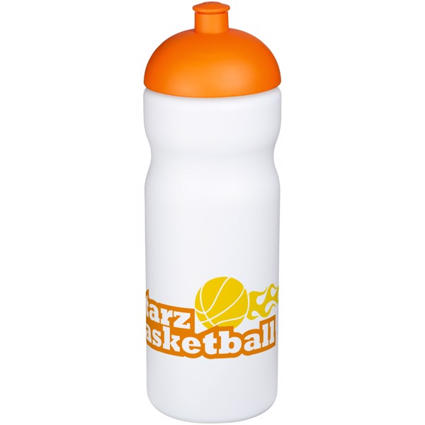 Baseline® Plus 650 ml dome lid sport bottle - White / Orange