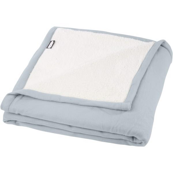 Marigold RPET polar fleece and sherpa blanket - Grey / Off White