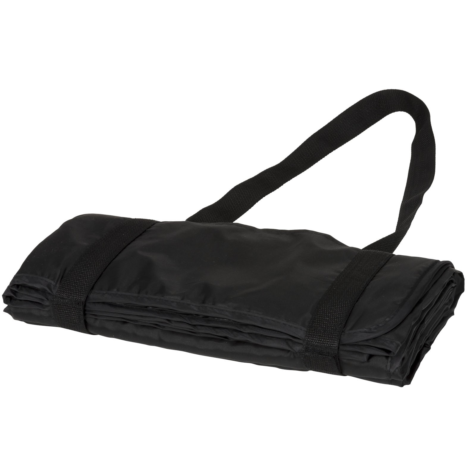 Roler picnic plaid with carrying strap - Solid Black