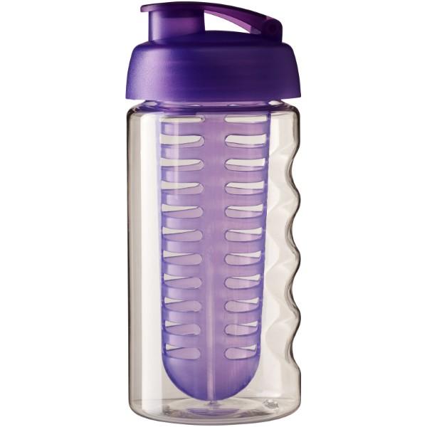 Sportovní láhev s infuzérem avyklápěcím víčkem H2O Bop® 500 ml - Průhledná / Purpurová