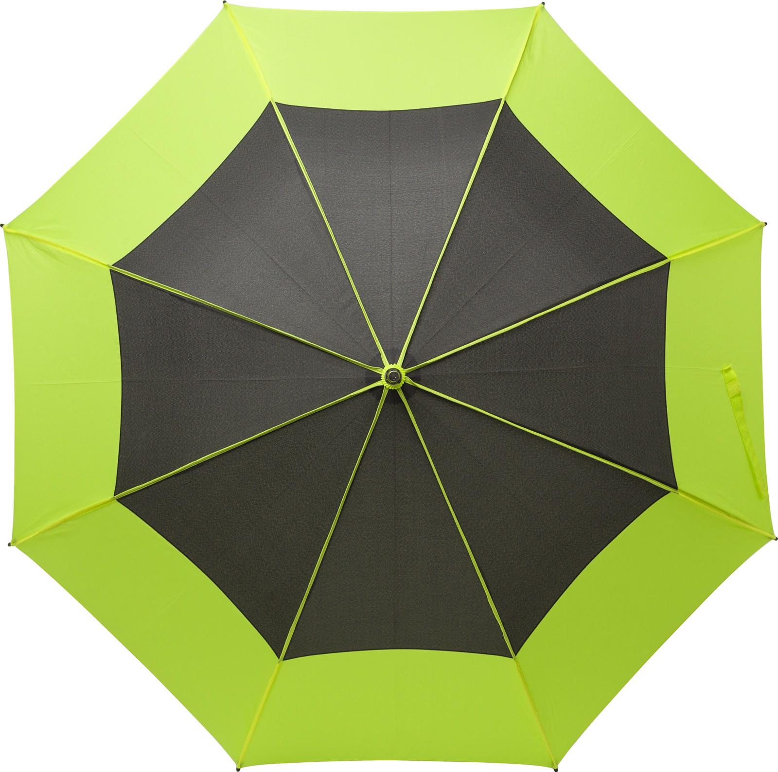 Pongee (190T) storm umbrella - Lime