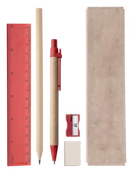 Set Instrumente De Scris Gabon - Roșu / Natural