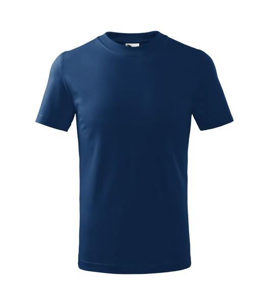 Tričko dětské Malfini Basic - Půlnoční Modrá / 122 cm/6 let