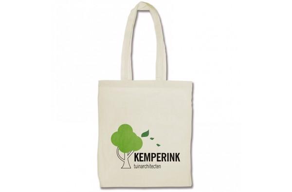 Shoulder bag cotton long handles 105g/m²