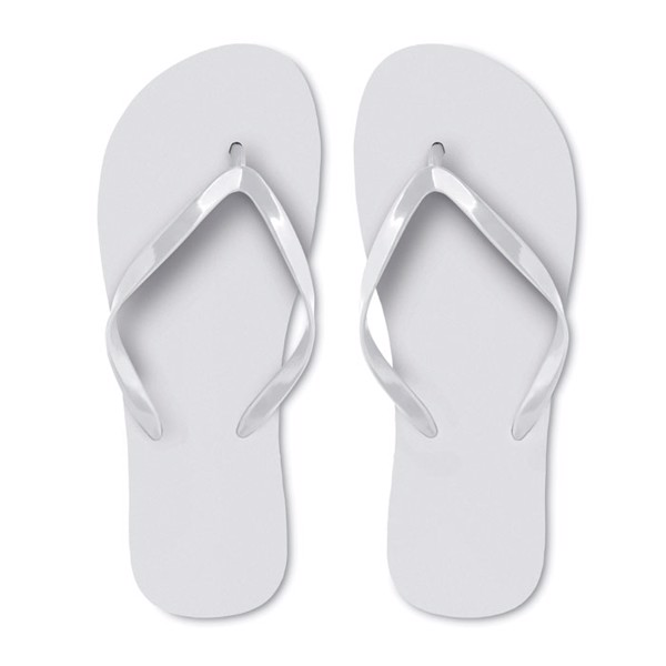 EVA beach slippers size L Honolulu - White / L