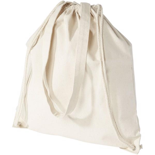Eliza 240 g/m² cotton drawstring backpack - Natural