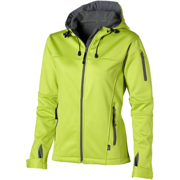 Match ladies softshell jacket - Mid Green / XXL