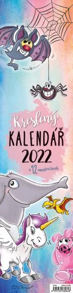 Měsíční kalendář Kreslený - vázanka 2022