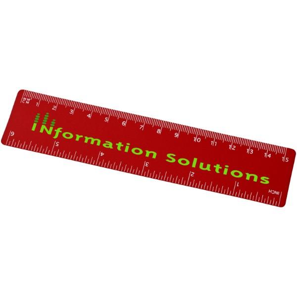 Rothko 15 cm plastic ruler - Red