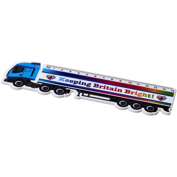Plastové pravítko ve tvaru nákladního auta Loki 15 cm