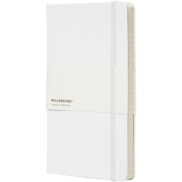 Classic L hard cover notebook - squared - White