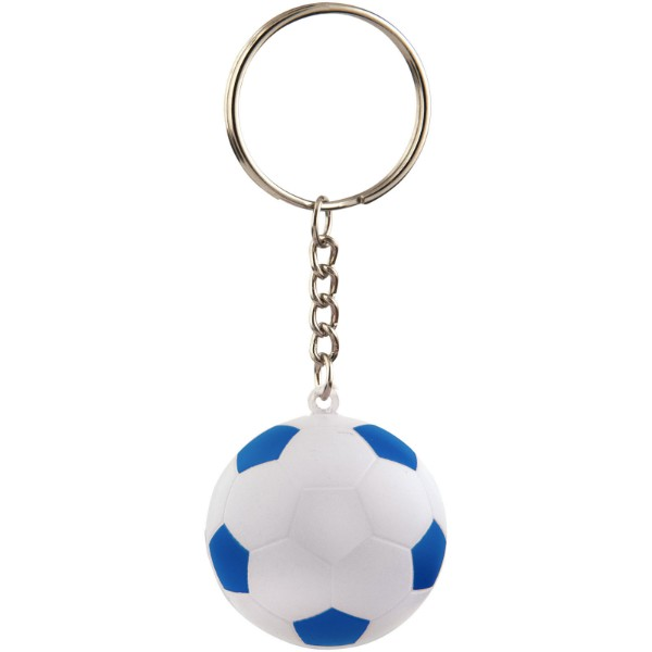 Striker football keychain - Royal blue / White