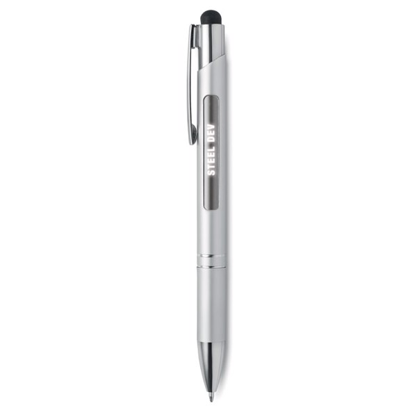 Aluminium stylus pen w/ light Bern Light - Matt Silver