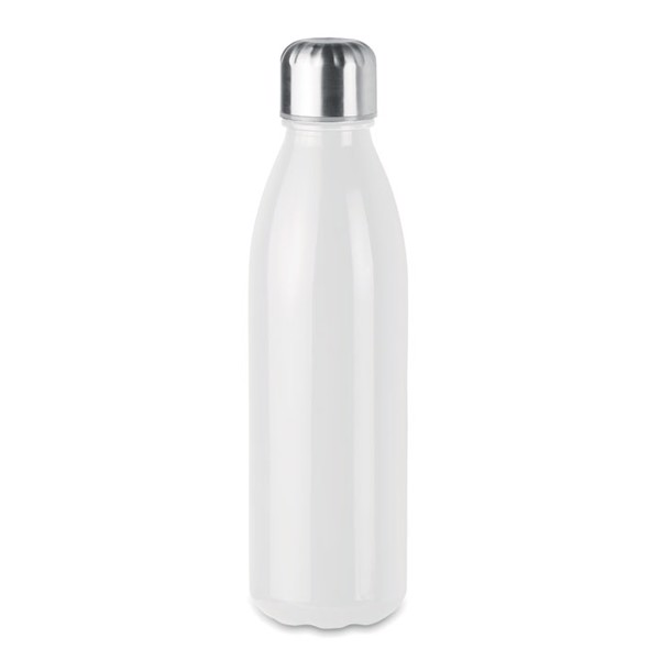 Glass drinking bottle 650ml Aspen Glass - White