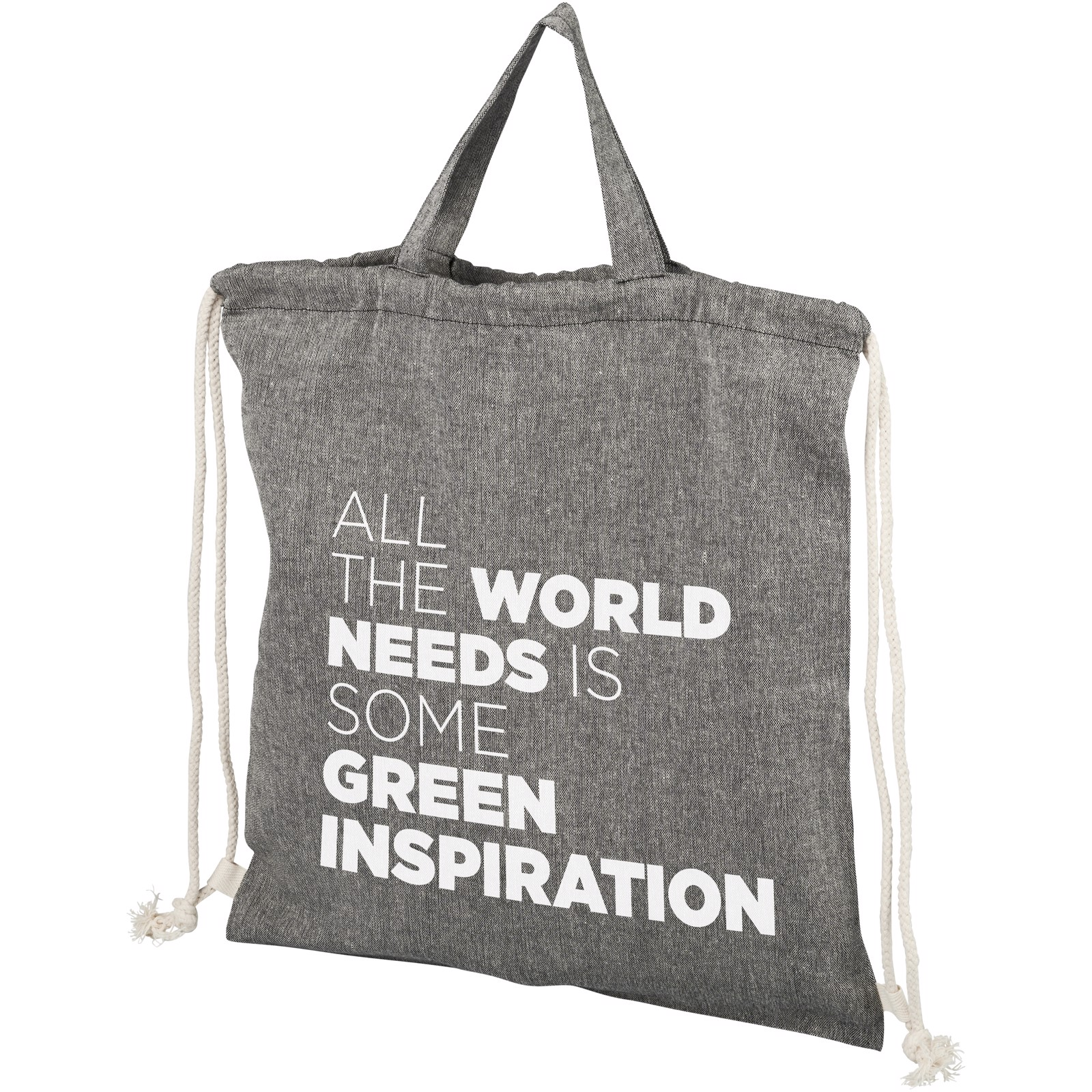 Športna torba z vrvicami iz recikliranega bombaža 150 g/m² Be Inspired