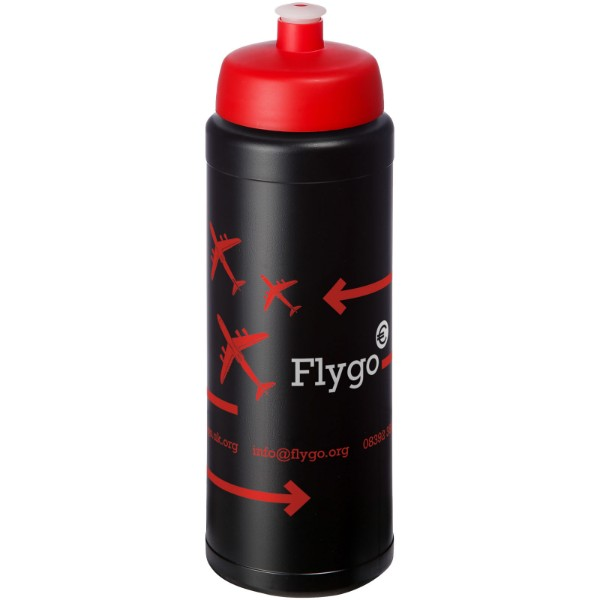Baseline® Plus 750 ml bottle with sports lid - Solid Black / Red