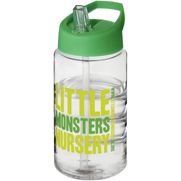 Sportovní láhev svíčkem shubičkou H2O Bop 500 ml - Průhledná / Zelená