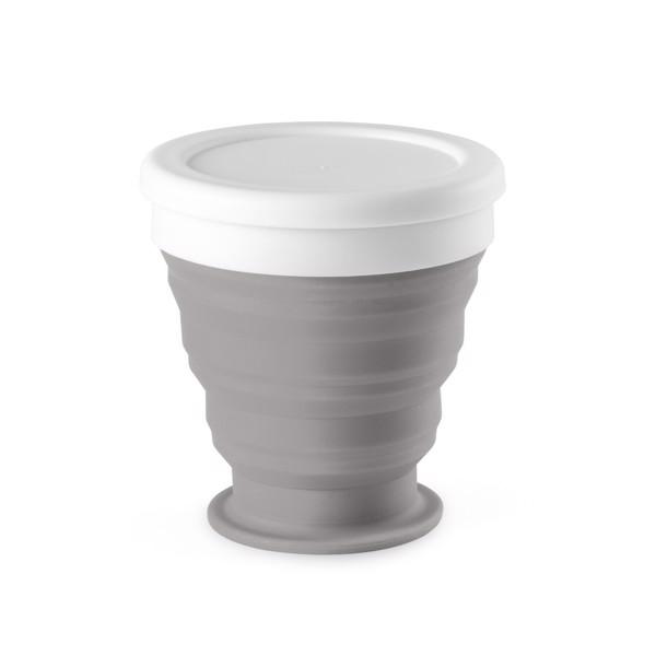 ASTRADA. Foldable travel cup 250 ml - Light Grey