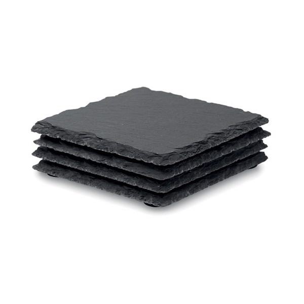 Slate coasters with EVA bottom Slate4