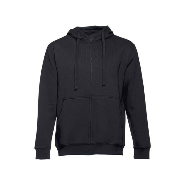THC AMSTERDAM. Men's hooded full zipped sweatshirt - Black / XXL