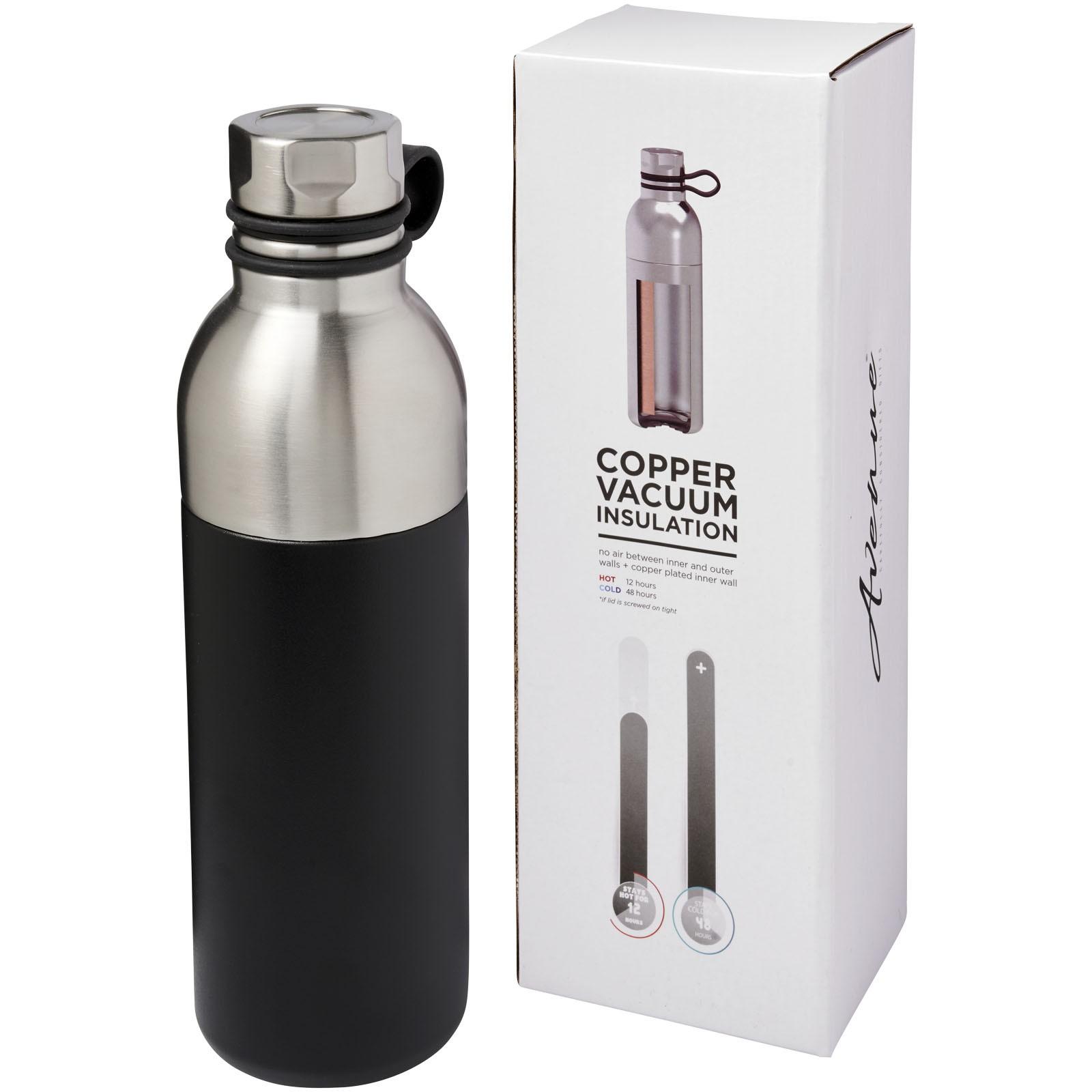 Měděná sportovní láhev Koln 590 ml s vakuovou izolací - Černá