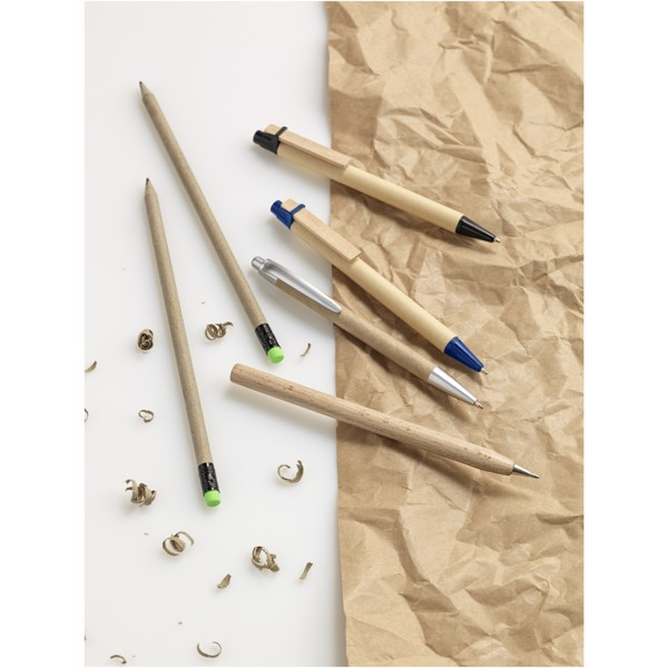 Salvador recycled ballpoint pen - Natural / Solid Black