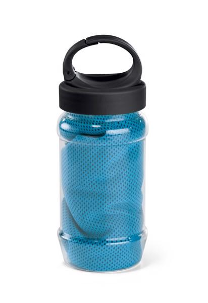 ARTX PLUS. Πετσέτα γυμναστικής με μπουκάλι - Γαλάζιο