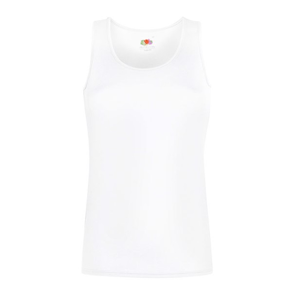 Ladies T-Shirt Sports Lady-Fit Vest 61-418-0 - White / XS