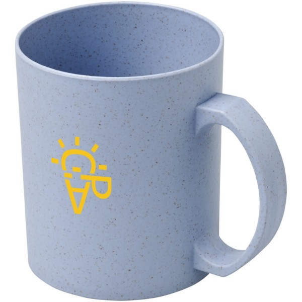 Pecos 350 ml wheat straw mug - Grey