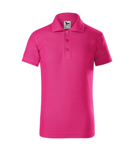 Polo Shirt Kids Malfini Pique Polo - Magenta / 12 years